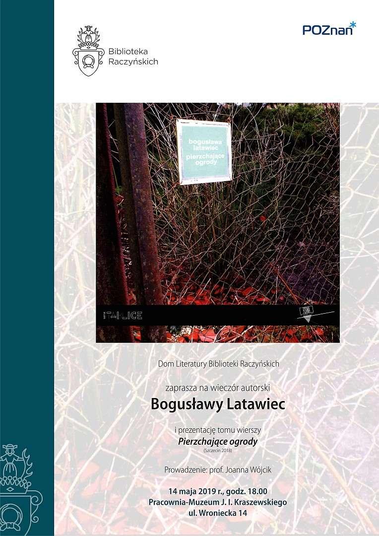 Biblioteka Raczyńskich Spotkanie Z Bogusławą Latawiec