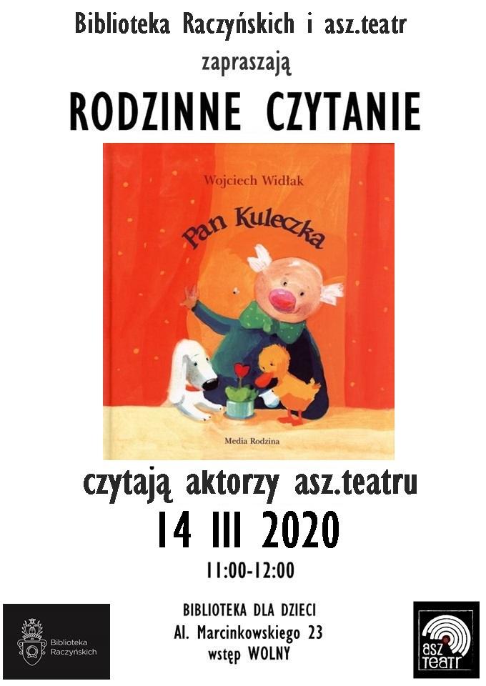 plakat Rodzinnego czytania