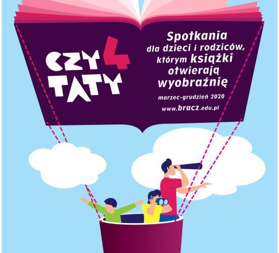 Plakat zapowiadający cykl spotkań Czytaty4