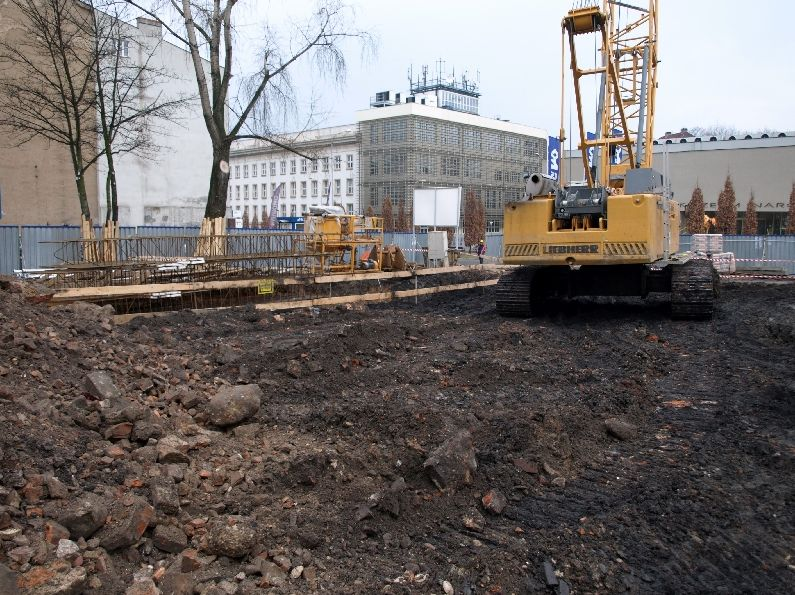Zdjęcia z rozbudowy Biblioteki Raczyńskich