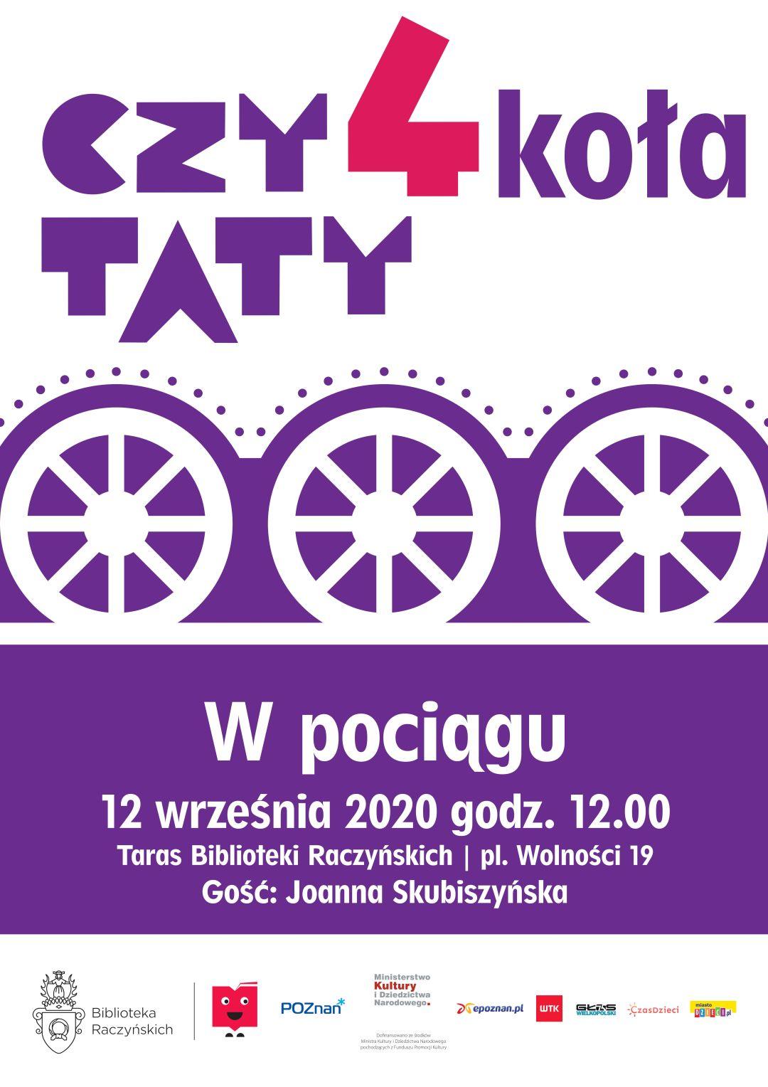 Plakat zapraszający na spotkanie Czytaty4 koła