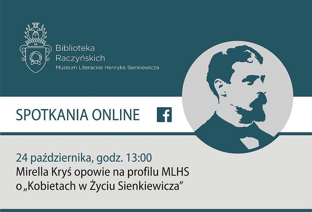 Grrafika informująca o oprowadzaniu Kobiety w życiu Sienkiewicza