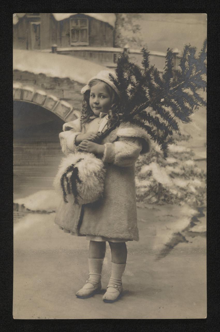 pocztówka świąteczna z pocz. XX wieku
