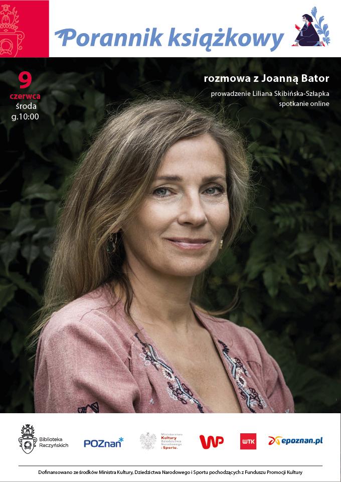 plakat spotkania z Joanną Bator